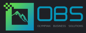OBS Hellas - Olympian Business Solutions Black Logo